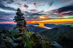Photo Cairn by Torgeir Myklebust on Hdr Photography, Amazing Photography, Troll, Advent, Beautiful Sunset, Trekking, Wilderness, Statue Of Liberty, Norway