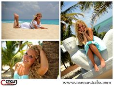 Cancun beach photography www.cancunstudios.com cancun senior photo session at the beach