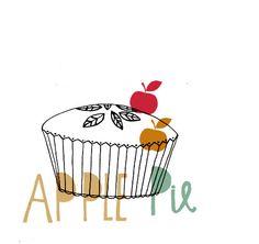 lettering, papercut type, design, drawing, apple pie, baking, colour, autumn, illustration, food, cooking