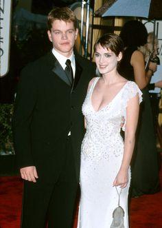 Pin for Later: Retour Sur la Fois où Ces Couples de Célébrités Se Sont Affichés en Public Pour la Première Fois Matt Damon et Winona Ryder en 2000