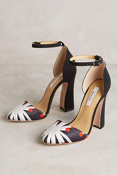 snowflake satin heels #anthrofave