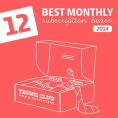 12 Best Monthly Subscription Boxes of 2014- ranked by category. This is an awesome resource! So many great subscription boxes to choose from.