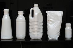 Lucy + Jorge Orta, Milk, 2010, 16 cast aluminium milk containers