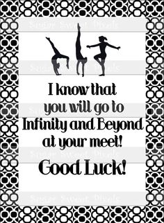 INSTANT DOWNLOAD Gymnastics Meet Good Luck by sugarnspicebow