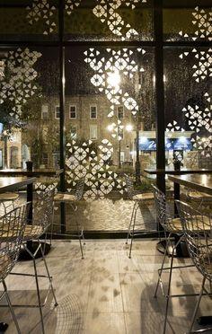 Prasino Restaurant... I really like the shadows created by the facade