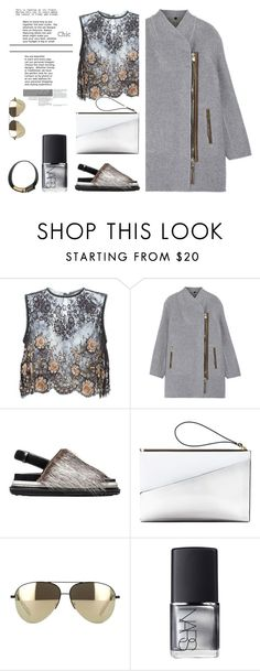 """More gray"" by dragananovcic ❤ liked on Polyvore featuring Alessandra Rich, Burberry, Marni, Victoria Beckham and NARS Cosmetics"