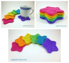 Rainbow Star Coasters by syppahscutecreations on DeviantArt