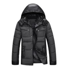 57.96$  Buy now - http://alio7r.worldwells.pw/go.php?t=32722301288 - New 2016 Men Winter Black Jacket Parka Warm Coat With Hood Mens Cotton Padded Jackets  Coats Jaqueta Masculina Plus Size NSWT020