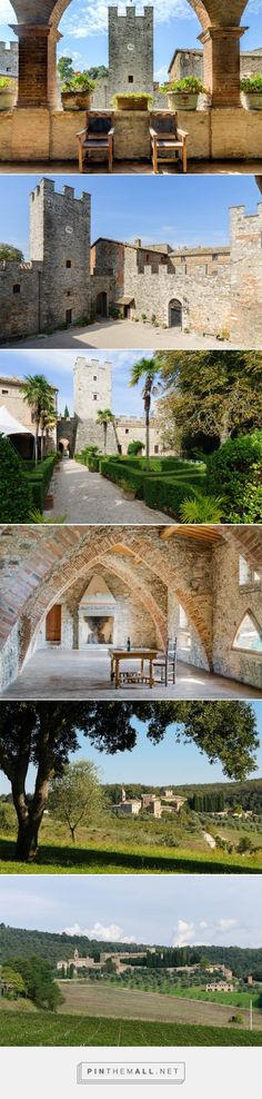 Glamorous Medieval Castle for sale near Siena, Italy €28M  - ◉ re-pinned by http://www.waterfront-properties.com