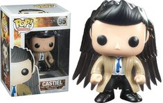 Supernatural - Castiel with Wings Pop! Get this awesome Castiel with Wings! Because Castiel wasn& cool enough so Funko put some wings on him and BAM! This way we know that you have received your item. Castiel, Figurines Funko Pop, Figurine Pop, Dean Winchester, Funko Pop Supernatural, Supernatural Pop Figures, Supernatural Merchandise, Supernatural Fans, Vinyl Figures