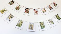 This eco-friendly Flower Fairy bunting garland is so pretty for a playroom, nursery or childrens party. It has gorgeous illustrations of Cicely