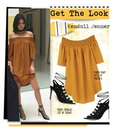 """Get The Look: Kendall Jenner"" by hamaly ❤ liked on Polyvore featuring women's clothing, women, female, woman, misses, juniors, GetTheLook, mango, kendalljenner and offtheshoulder"