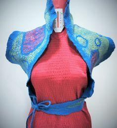 Estola e cinto em Lã Merino com seda. ideiasdaflora@gmail.com Flora Silva Portugal