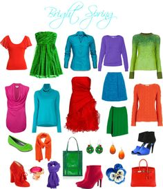 """""""Bright Spring Brights"""" by sabira-amira on Polyvore"""