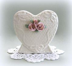 Shabby Chic Vase Flower Vase Floral Vase Pink by afloralaffair
