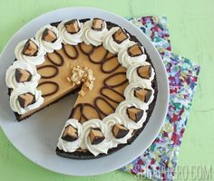 Peanut Butter Chocolate Pie for Pi Day - SugarHero!