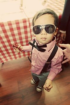 I told my love that this would be one of the outfits if we had a kid in the future. And I knew it! Suspenders looks sooooo adorable on kids!
