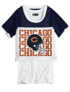 Check this out Shop Justice, Nfl Chicago Bears, Long Tee, Girl Outfits, Tees, School Stuff, Mens Tops, Clothes, Shopping