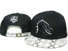 48fdbe8da74 NRL Snapback Hats Snakeskin Brisbane Broncos Black 5873! Only  8.90USD