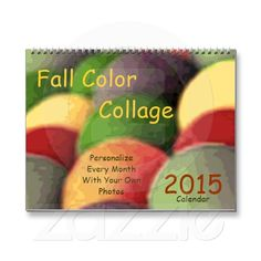 2015 Fall Color Collage Wall Calendar by Janz