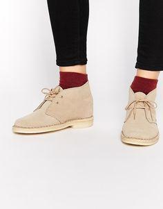 4101adf8a63 Clarks Originals Suede Sand Flat Desert Boots at asos.com