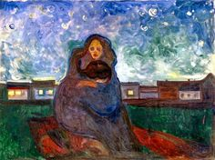 Edvard Munch (1863-1944), Under the Stars, 1900-05. oil on canvas, 90 x 120 cm