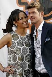 """""""Blurred Lines"""" singer Robin Thicke was photographed groping a blonde woman at a VMAs after-party Sunday. Robert Thicke, Celebrity Beauty, Celebrity Couples, Robin Thicke Wife, Biracial Children, Paula Patton, Most Beautiful Faces, Love My Husband, Interracial Couples"""