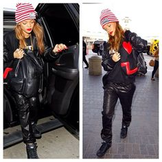 #Rihanna seen with the #Joyrich #python #backpack. Get yours now at: www.shopluvb.com (at www.shopluvb.com)