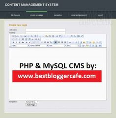 PHP & MySQL CMS  & Website with video tutorials.