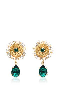 eac6f4aaf98a Green Crystal Earrings by DOLCE   GABBANA for Preorder on Moda Operandi  Zarcillos
