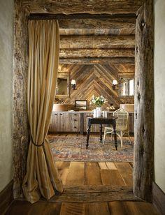 curtains in doorways & wood