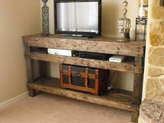 Rustic TV Console   Http://www.etsy.com/listing/
