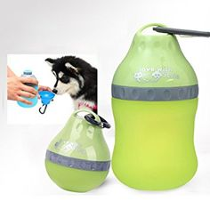 PYRUS Portable Silicone Folding Pets Bowl Travel Pet Canteen Outdoor Collapsing Water Feeding Bottles Kettle with Carabiner Clip for Dogs Cats (Green): Amazon.co.uk: Pet Supplies
