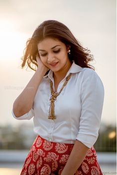 Actress Keerthi Suresh Latest Photoshoot Images in White Outfits Beautiful Girl Photo, Beautiful Girl Indian, Most Beautiful Indian Actress, Stylish Girl Images, Stylish Girl Pic, Beautiful Bollywood Actress, Beautiful Actresses, Red Skirts, Beauty Full Girl