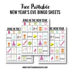 Updated Printable New Year's Eve BINGO