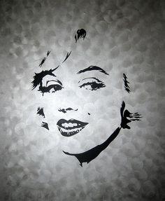 MARILYN MONROE. Cuadro realizado a mano por DOMINGO VERA POP ART. Técnica: Acrílico sobre lienzo.    60 x 50 cm.