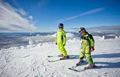 Two kids skiing at Hoodoo Ski Area in Central Oregon