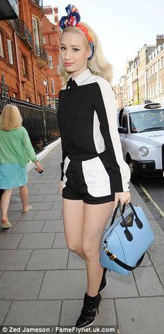 Iggy Azalea fashion black and white