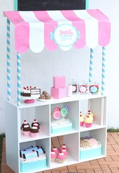 DIY Pretend Play Sweet Shoppe - Damask Love