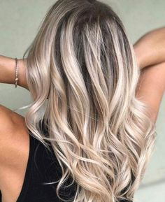 Blonde with dark roots