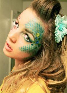 mermaid makeup - halloween