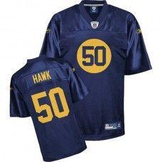 Packers  50 A.J. Hawk Blue Stitched NFL Jersey Donald Driver c5f77e8d1