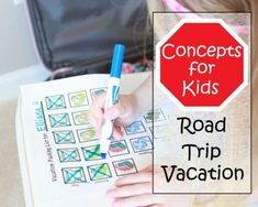 Concepts for Kids Road Trip Vacation + Free Printable Packing List for Kids