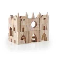 Guidecraft™ Tabletop Building Blocks are an open-ended building block set featuring standard unit blocks in 16 different shapes used to build fine-motor skills. Wooden Building Blocks, Wooden Blocks, Building Toys, Kids Learning Toys, Kids Toys, Wooden Castle, Kids Blocks, Wooden Puzzles, Wood Toys