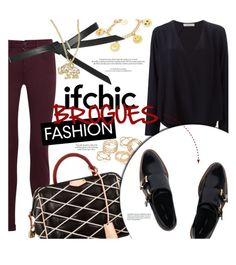 """""""WALK THIS WAY: IFCHIC BROGUES FASHION"""" by stacey-lynne ❤ liked on Polyvore featuring J Brand, Chloé, JFR, Venessa Arizaga, Topshop, Louis Vuitton, Miista and Kate Spade"""