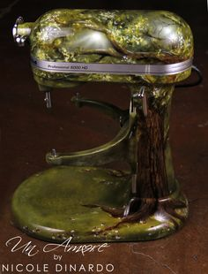 Fairytale tree themed Custom painted KitchenAid Mixer by © NICOLE DINARDO of UN AMORE