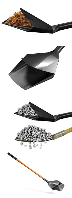 The 'Stealth Shovel', named for its geometric and sleek shape, revolutionizes the shovel blade with a more effective and easier to use blade and cutting edge... READ MORE at Yanko Design !
