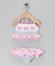 Blue & Pink Whale Bikini - Infant, Toddler & Girls