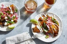 Thomas Ortega's Beef Short Rib Birria Quesatacos Recipe on Mexican Dishes, Mexican Food Recipes, Ethnic Recipes, Boneless Beef Short Ribs, Potato Puree, Healthy Eating Tips, Healthy Food, Breakfast Lunch Dinner, Vegetable Drinks