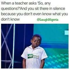 A student's face when... he's too lost to even know what to ask.